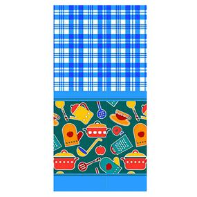 Полотенце вафельное 35/75 см 431/1 Кухня цвет синий фото