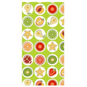 Полотенце вафельное 35/75 см 477/2 Фрукты цвет салат фото