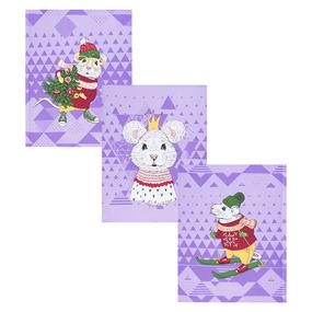 Набор вафельных полотенец 3 шт 50/60 см 3028/4 Мышиный король фото