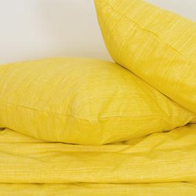 Постельное белье 2049311 Эко 11 желтый 1.5 сп с 1 нав. 70/70 перкаль фото