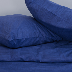 Постельное белье 2049315 Эко 15 синий 1.5 сп с 1 нав. 70/70 перкаль фото