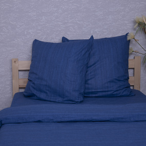 Постельное белье из перкаля 2049315 Эко 15 синий 2-х сп нав. 70/70. фото