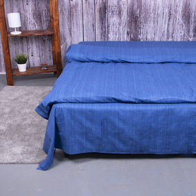 Постельное белье из перкаля 2049315 Эко 15 синий 2-х сп с евро простыней фото