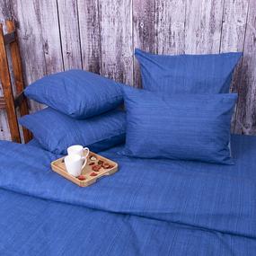 Постельное белье из перкаля 2049315 Эко 15 синий Семейный фото