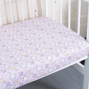 Простынь поплин детская 2805/1 Королевские подушки 110/150 см фото