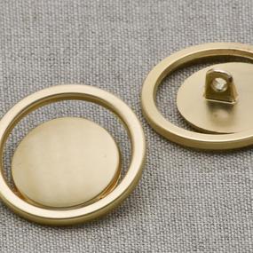 Пуговица металл ПМ41 золото матовое уп 12 шт фото