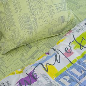 Детское постельное белье 11430/1 Краски города 1.5 сп поплин фото