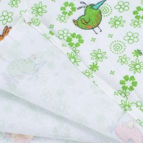 Набор детских пеленок фланель 4 шт 90/120 см 644-2П фото