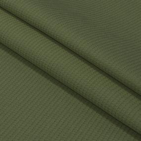 Вафельное полотно гладкокрашенное 150 см 165 гр/м2 цвет олива фото