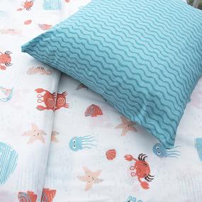 Детское постельное белье из поплина 1.5 сп Крабики 3055 фото