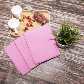 Набор вафельных полотенец Премиум 3 шт 45/70 см 071 розовый фото