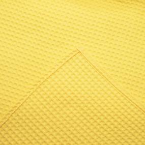 Вафельная накидка на резинке для бани и сауны Премиум женская цвет 257 желтый фото
