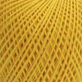 Нитки для вязания Ирис 100% хлопок 25 гр 150 м цвет 0301 цедра лимона фото