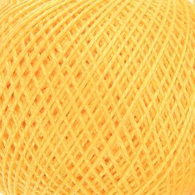 Нитки для вязания Ирис 100% хлопок 25 гр 150 м цвет 0302 желтый фото