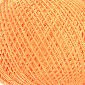 Нитки для вязания Ирис 100% хлопок 25 гр 150 м цвет 0604 светло-оранжевый фото