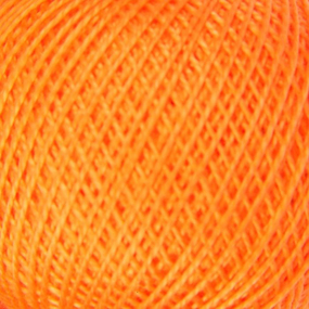 Нитки для вязания Ирис 100% хлопок 25 гр 150 м цвет 0710 оранжевый фото