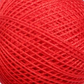 Нитки для вязания Ирис 100% хлопок 25 гр 150 м цвет 0810 красный фото