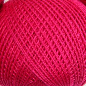 Нитки для вязания Ирис 100% хлопок 25 гр 150 м цвет 1112 ярко-розовый фото