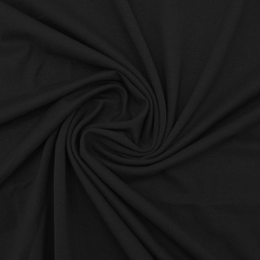 Ткань на отрез вискоза с лайкрой цвет черный фото
