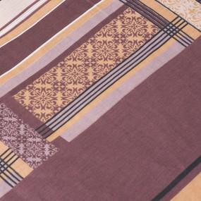 Постельное белье из бязи ГОСТ 351/3 Клетка бежевый 1.5 сп с 1-ой нав. 70/70 фото