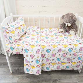 Постельное белье в детскую кроватку из поплина 1836 фото