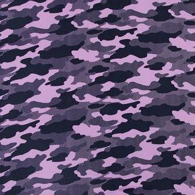 Мерный лоскут футер начес карде Милитари розовый 3691-18 0.5 м фото