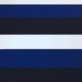 Мерный лоскут пике №3 Полоса синяя 9 м фото