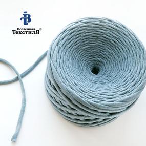 Трикотажная пряжа цвет голубой меланж фото