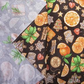Скатерть рогожка 12214/1 Цитрус цвет коричневый 150/260 фото