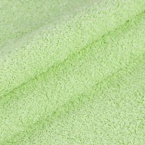 Махровая ткань 220 см 430гр/м2 цвет салатовый фото