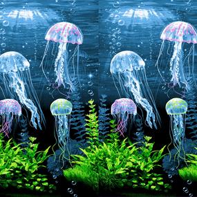 Вафельное полотно набивное 150 см 3089/1 Медузы фото