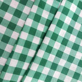 Ткань на отрез полулен 150 см 10432/1 цвет зеленый фото