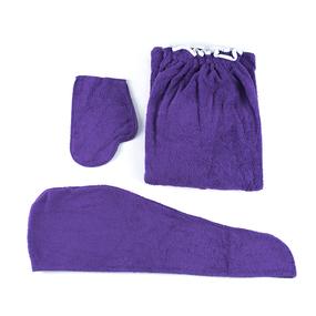 Набор для сауны женский цвет фиолетовый фото