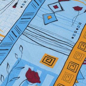 Комплект простыня 1.5 сп + 1 нав. 70/70 бязь 133/3 Стамбул цвет голубой фото