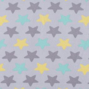 Ткань на отрез флис Звезды 40995/3 цвет салатовый фото