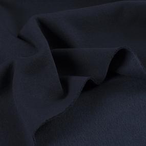 Ткань на отрез футер 3-х нитка начес темно-синий фото