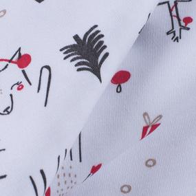 Ткань на отрез интерлок Новогодний лес 3421-20 цвет белый фото