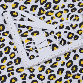 Ткань на отрез интерлок Леопардовая текстура 3176-20 цвет сахар фото