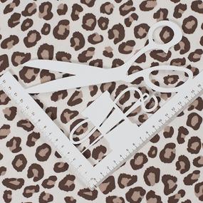 Ткань на отрез интерлок Леопардовая текстура 2664-20 цвет сливки фото