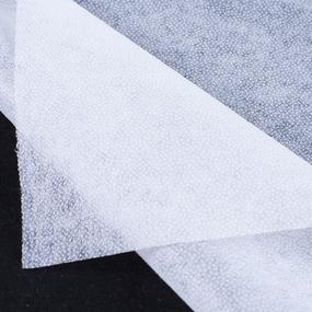 Ткань на отрез флизелин 90 см 35 гр/м2 цвет белый фото