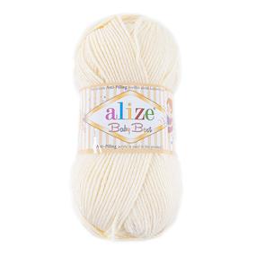 Пряжа для вязания Ализе BabyBest (90%акрил, 10%бамбук) 100гр цвет 001 молочный фото