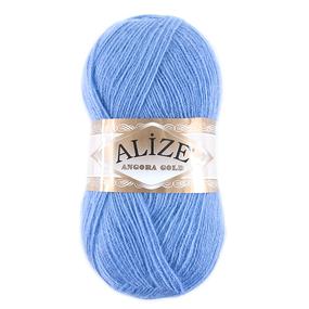 Пряжа для вязания Ализе AngoraGold (20%шерсть, 80%акрил) 100гр цвет 040 голубой фото