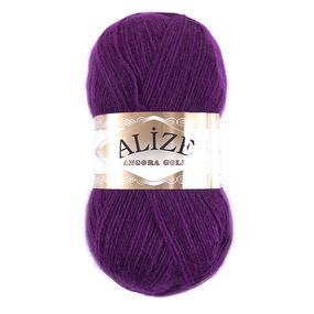Пряжа для вязания Ализе AngoraGold (20%шерсть, 80%акрил) 100гр цвет 050 фуксия фото