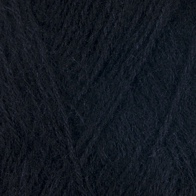 Пряжа для вязания Ализе AngoraGold (20%шерсть, 80%акрил) 100гр цвет 060 черный фото