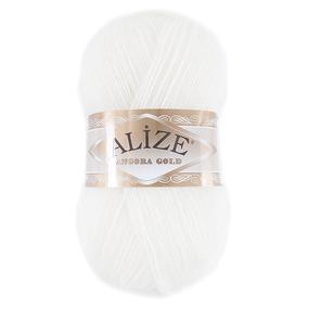 Пряжа для вязания Ализе AngoraGold (20%шерсть, 80%акрил) 100гр цвет 062 молочный фото