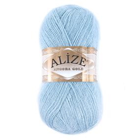 Пряжа для вязания Ализе AngoraGold (20%шерсть, 80%акрил) 100гр цвет 114 мята фото