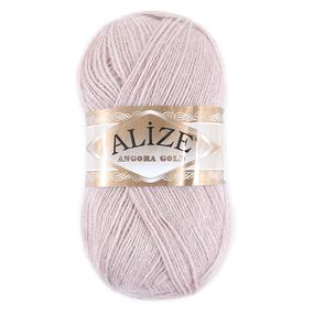 Пряжа для вязания Ализе AngoraGold (20%шерсть, 80%акрил) 100гр цвет 406 светлая пудра фото