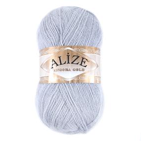 Пряжа для вязания Ализе AngoraGold (20%шерсть, 80%акрил) 100гр цвет 420 серая лаванда фото