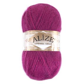 Пряжа для вязания Ализе AngoraGold (20%шерсть, 80%акрил) 100гр цвет 649 рубин фото