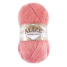 Пряжа для вязания Ализе AngoraGold (20%шерсть, 80%акрил) 100гр цвет 656 роза барочная фото